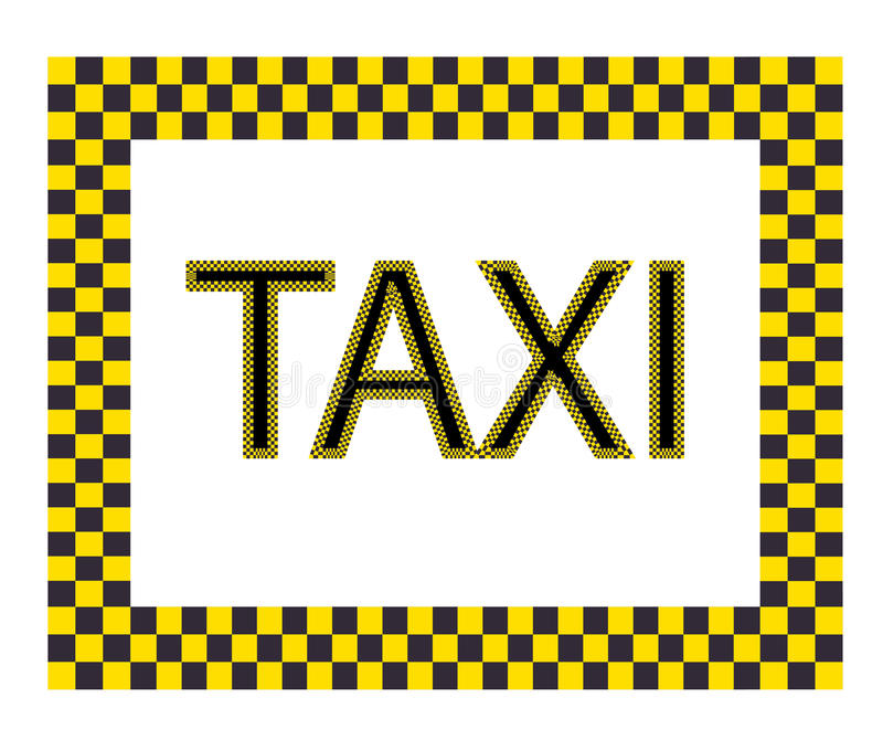 Escritura de la etiqueta del taxi libre illustration