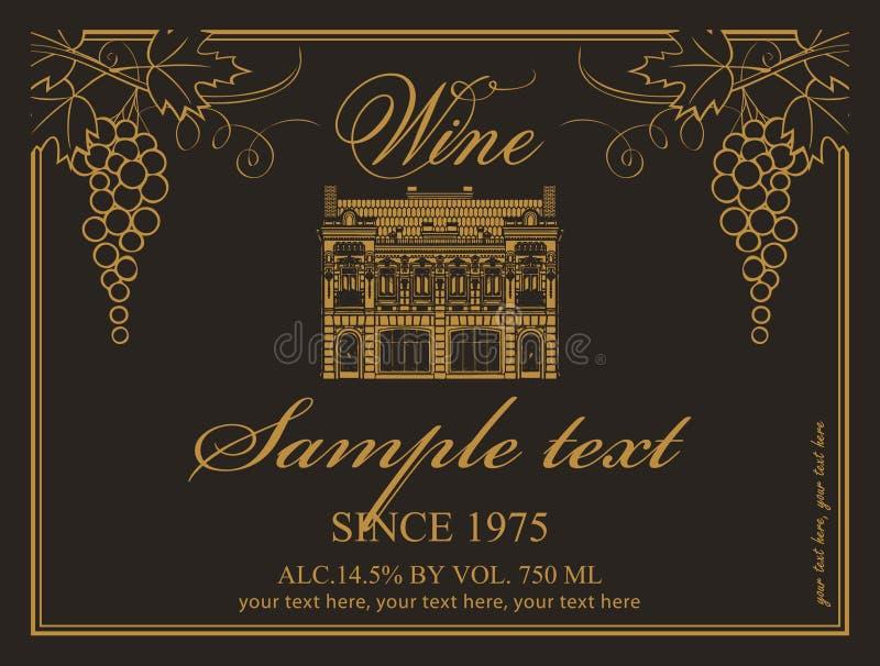 Download Escritura De La Etiqueta Del Vino Ilustración del Vector - Ilustración de elegancia, lujoso: 44851364