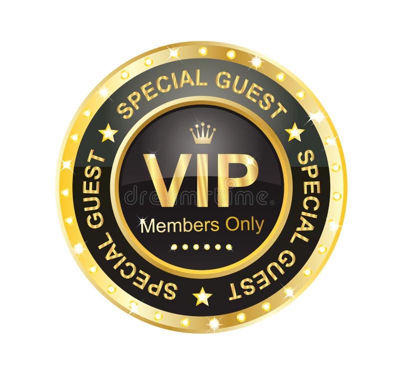 Escritura de la etiqueta del VIP stock de ilustración