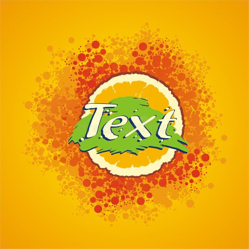 Escritura de la etiqueta del zumo de naranja imagen de archivo libre de regalías