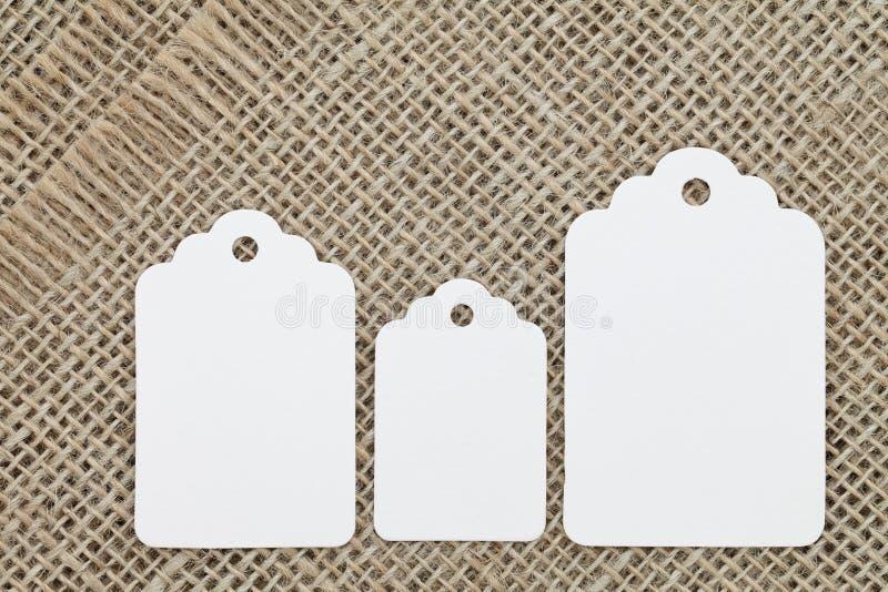 Escritura de la etiqueta en blanco imagen de archivo