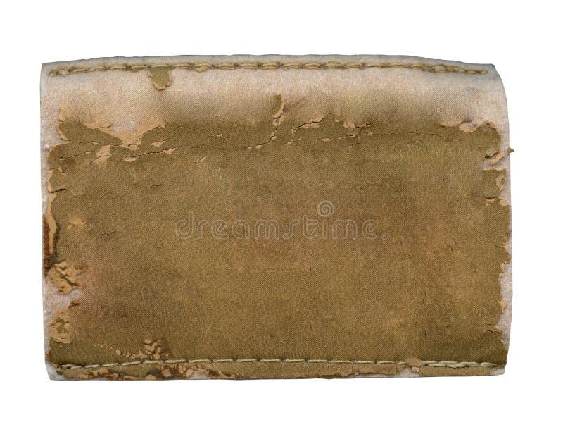 Escritura de la etiqueta en blanco de los pantalones vaqueros fotografía de archivo