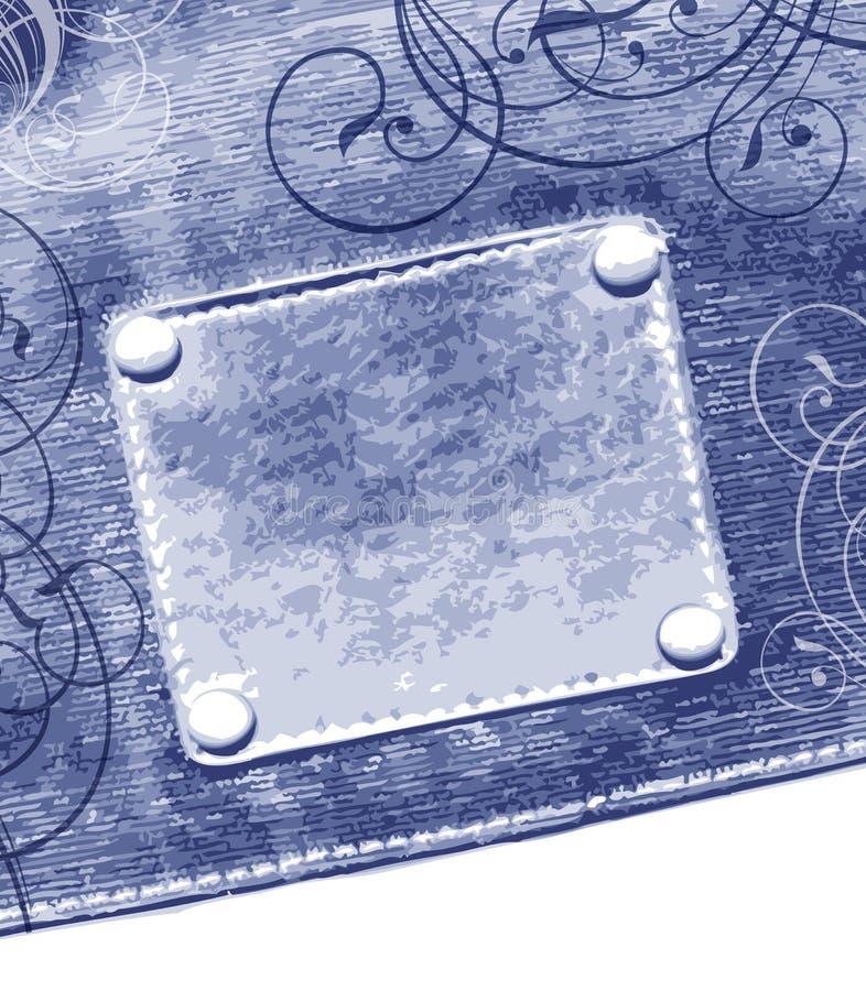 Escritura de la etiqueta en pantalones vaqueros libre illustration