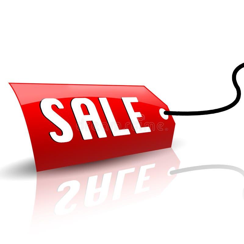 Escritura de la etiqueta fresca de la venta stock de ilustración
