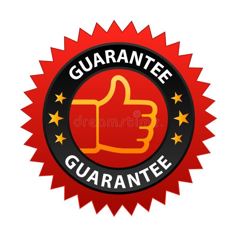 Escritura de la etiqueta de la garantía ilustración del vector