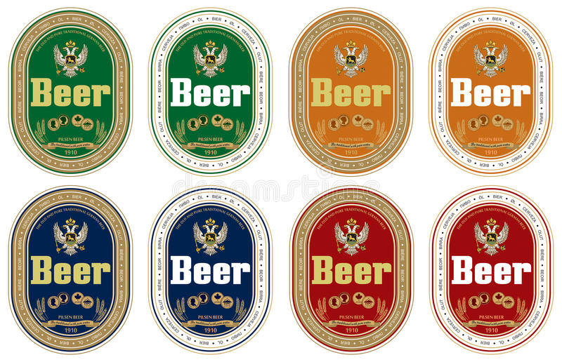 Escritura de la etiqueta genérica de la cerveza libre illustration