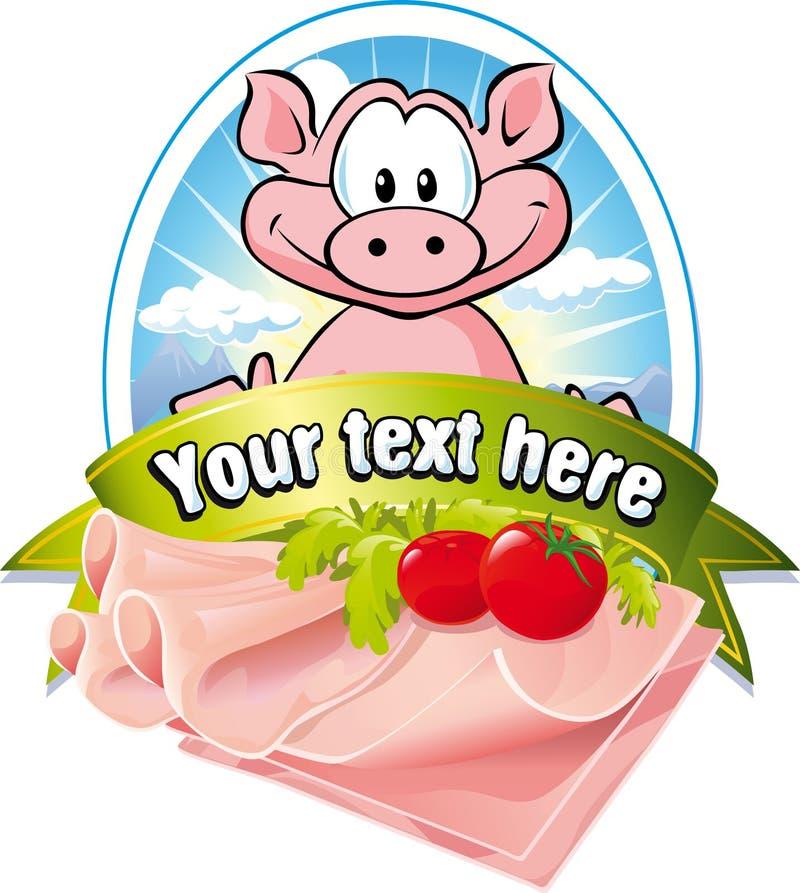 Escritura de la etiqueta natural de la carne libre illustration