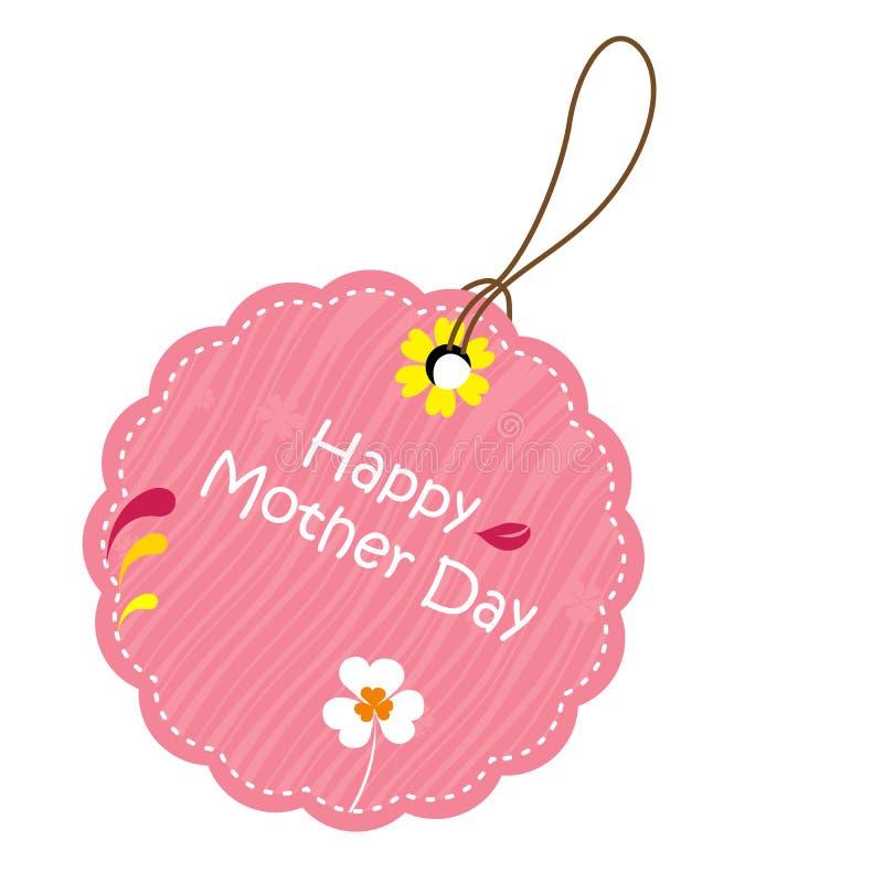 Escritura de la etiqueta para el día de madre ilustración del vector