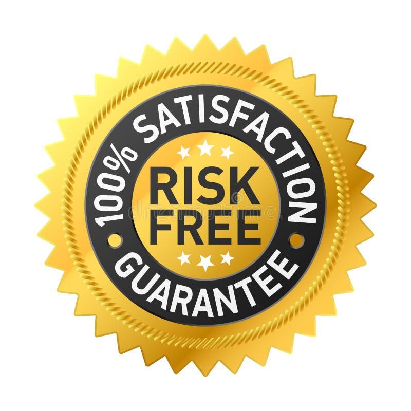 Escritura de la etiqueta Risk-free de la garantía ilustración del vector
