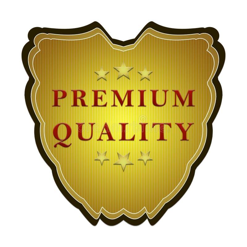 Escritura de la etiqueta superior de la calidad ilustración del vector