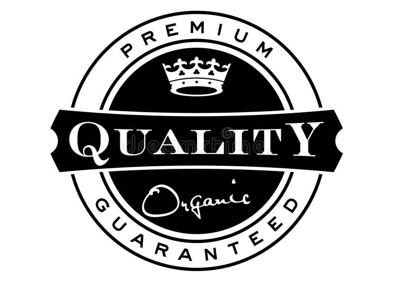 Escritura de la etiqueta superior de la calidad