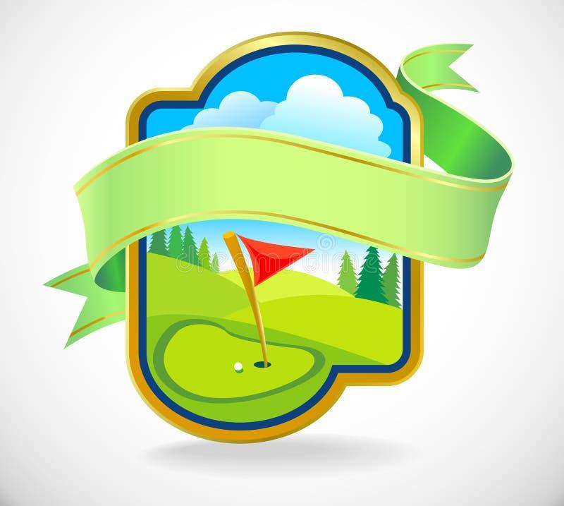 Escritura de la etiqueta superior del club de golf stock de ilustración