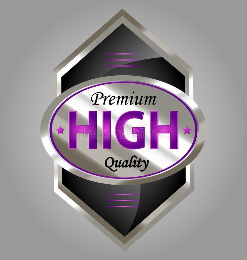 Escritura de la etiqueta superior del producto de calidad stock de ilustración