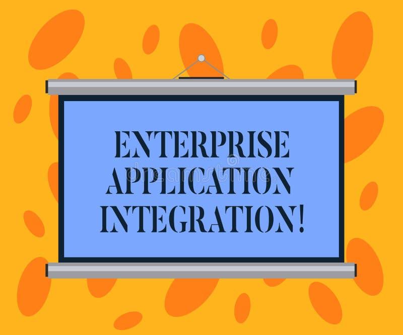 Escritura de la integración de la aplicación empresarial de la demostración de la nota Aplicaciones empresariales de conexión de  libre illustration