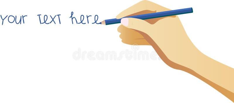 Escritura de la mano libre illustration