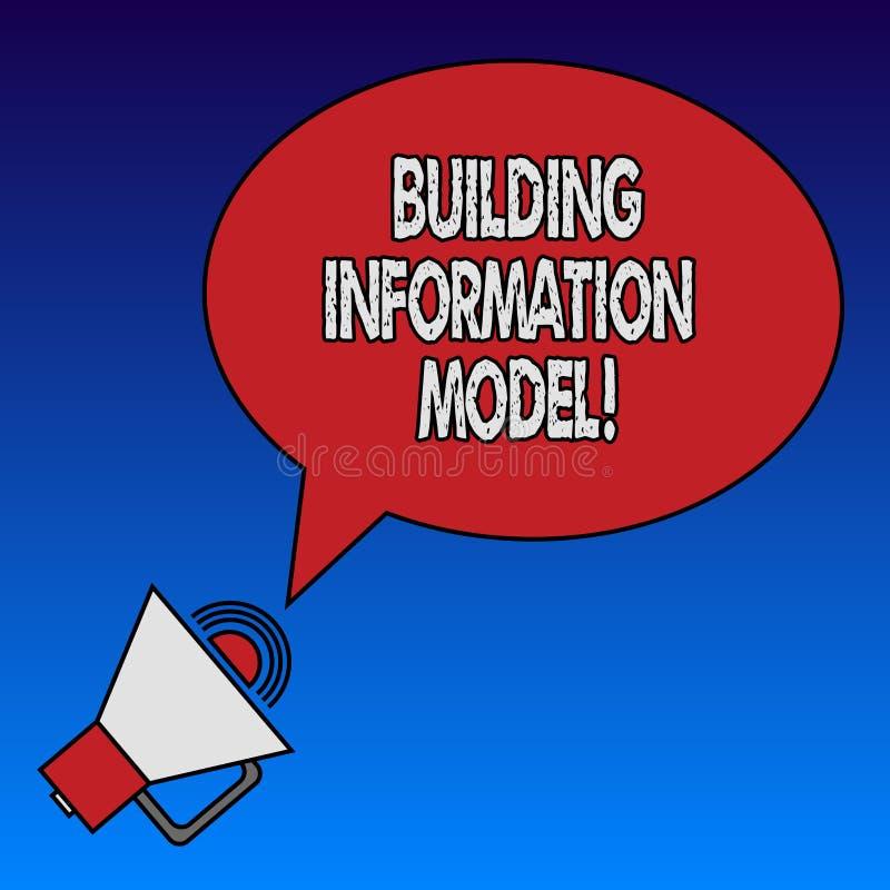 Escritura de la nota que muestra el modelo de la información del edificio Foto del negocio que muestra la representación de Digit libre illustration