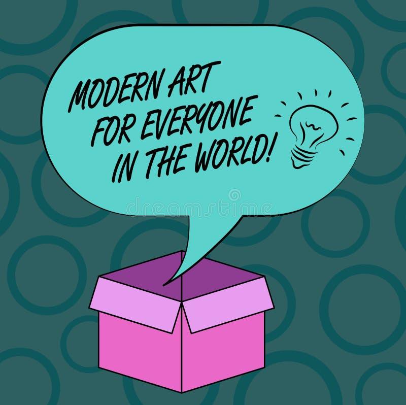 Escritura de la nota que muestra el mundo moderno de Art For Everyone In The Foto del negocio que muestra creatividad separada a  libre illustration