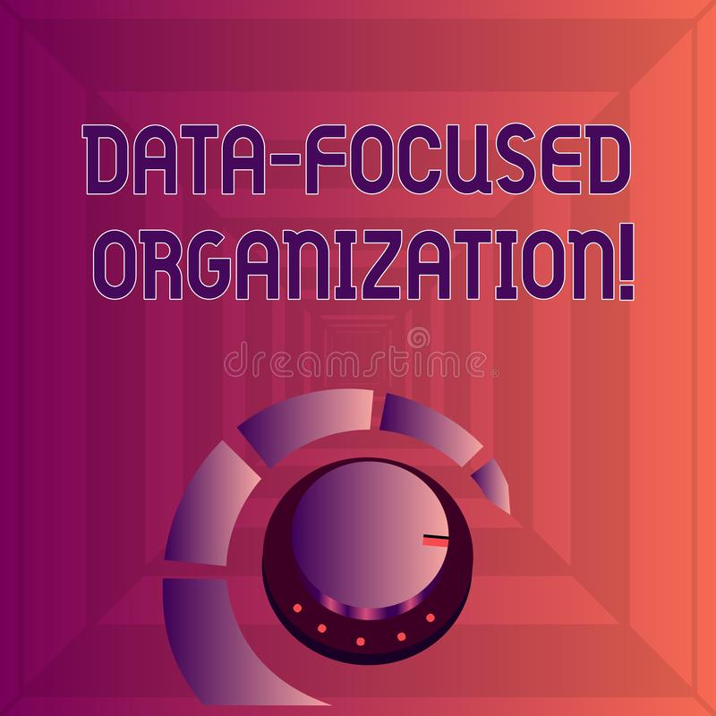 Escritura de la nota que muestra la organización enfocada datos Captura de exhibición de la foto del negocio y reforzar el valor  ilustración del vector