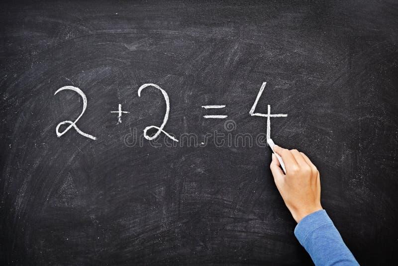Escritura de la pizarra/de la pizarra de la matemáticas fotos de archivo