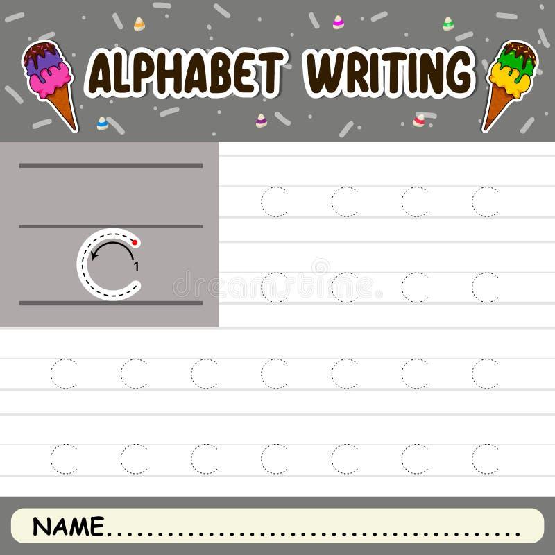 Escritura del alfabeto fotografía de archivo libre de regalías