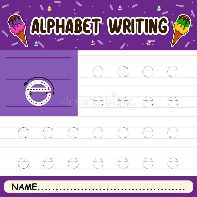 Escritura del alfabeto foto de archivo