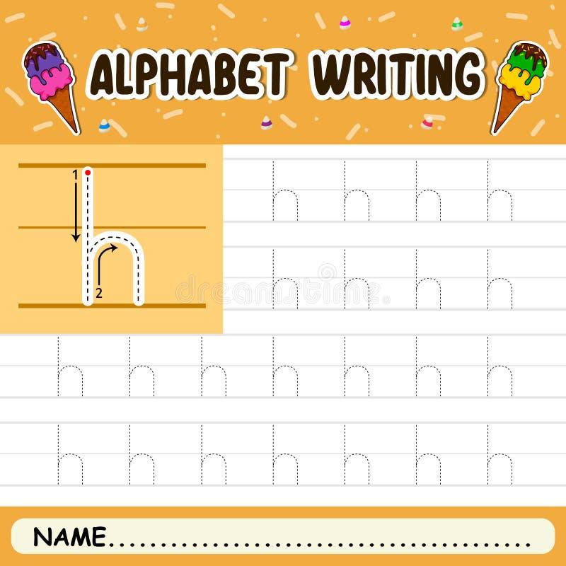 Escritura del alfabeto imagen de archivo