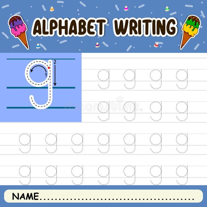 Escritura del alfabeto fotos de archivo