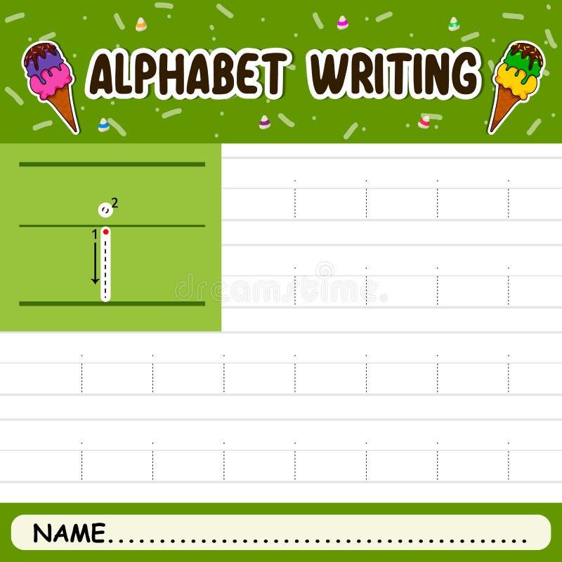 Escritura del alfabeto fotos de archivo libres de regalías