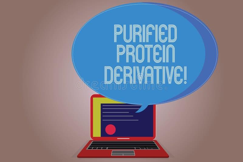 Escritura del derivado purificado demostración de la proteína de la nota Foto del negocio que muestra el extracto de certificado  libre illustration