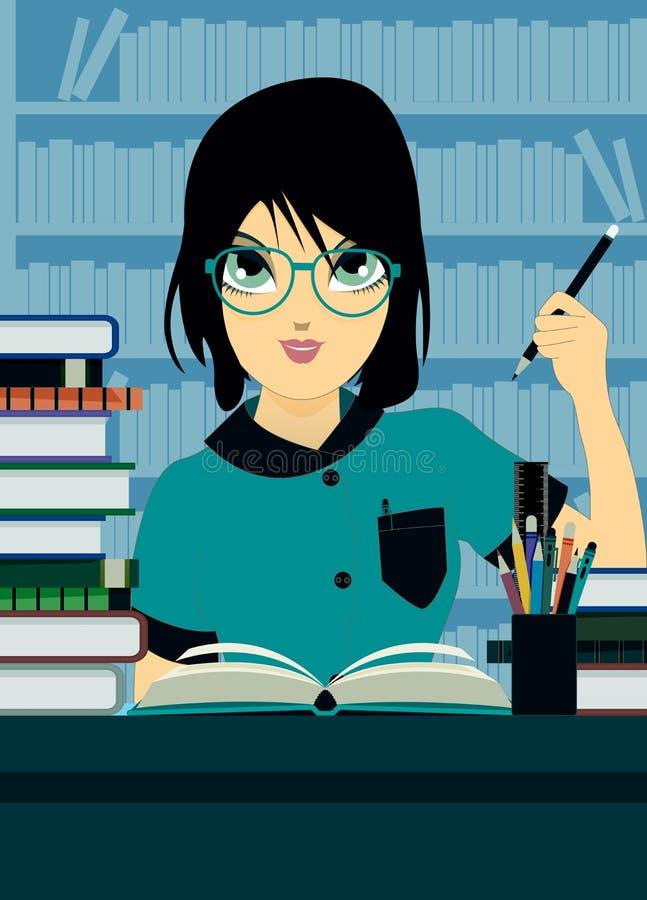 Escritura del estudiante ilustración del vector