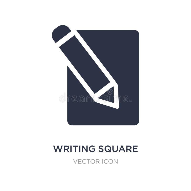 escritura del icono cuadrado en el fondo blanco Ejemplo simple del elemento del concepto de UI libre illustration