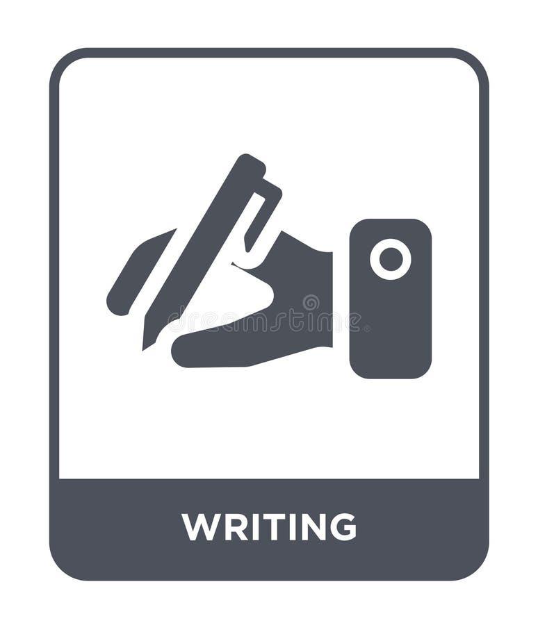 escritura del icono en estilo de moda del diseño Icono de la escritura aislado en el fondo blanco escribiendo símbolo plano simpl stock de ilustración