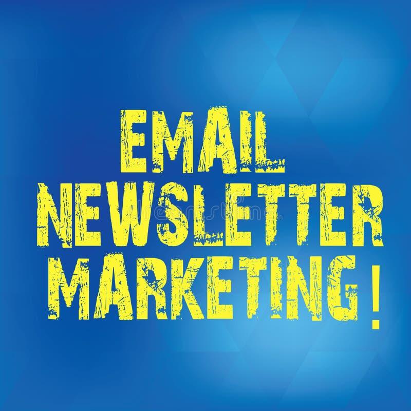 Escritura del márketing del boletín electrónico de la demostración de la nota La exhibición de la foto del negocio informa a usua libre illustration