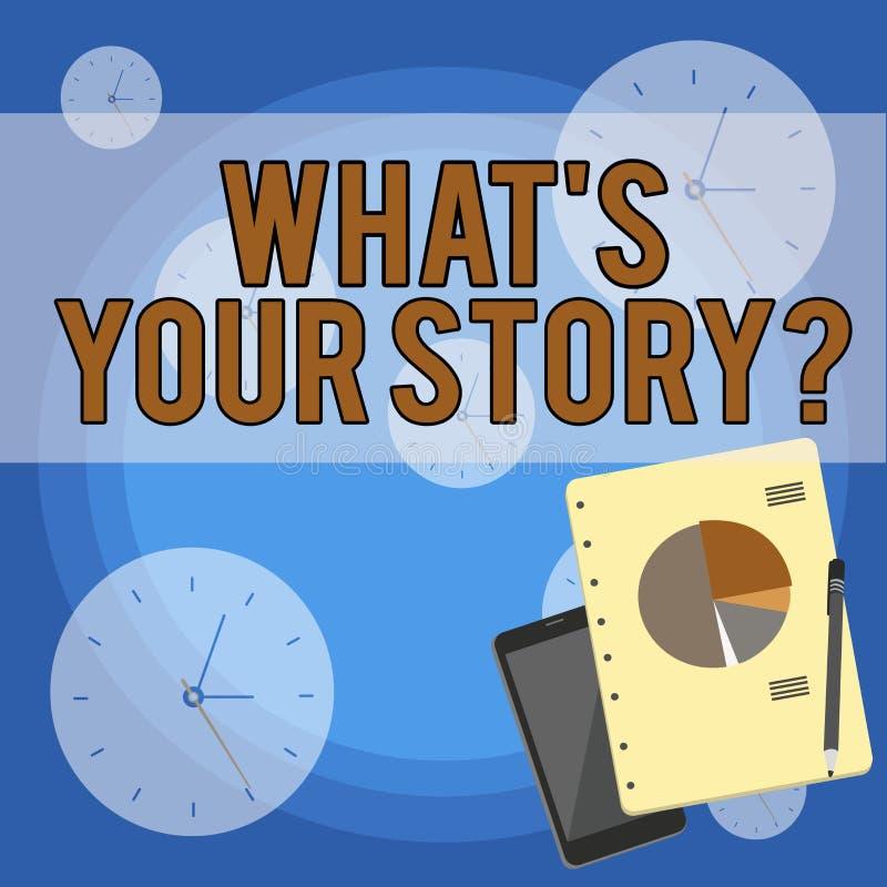 Escritura del texto de la escritura qu? s es su pregunta de la historia Concepto que significa el analysisner de preguntar que de libre illustration