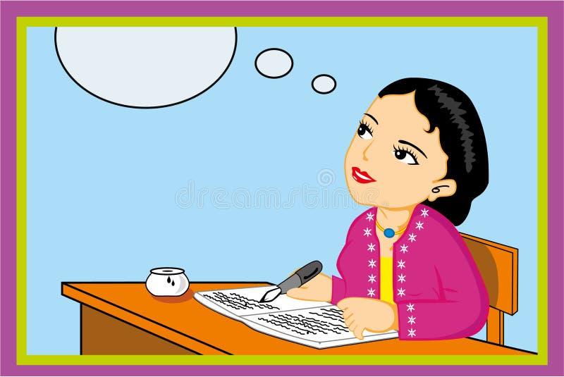Escritura femenina del profesor imágenes de archivo libres de regalías