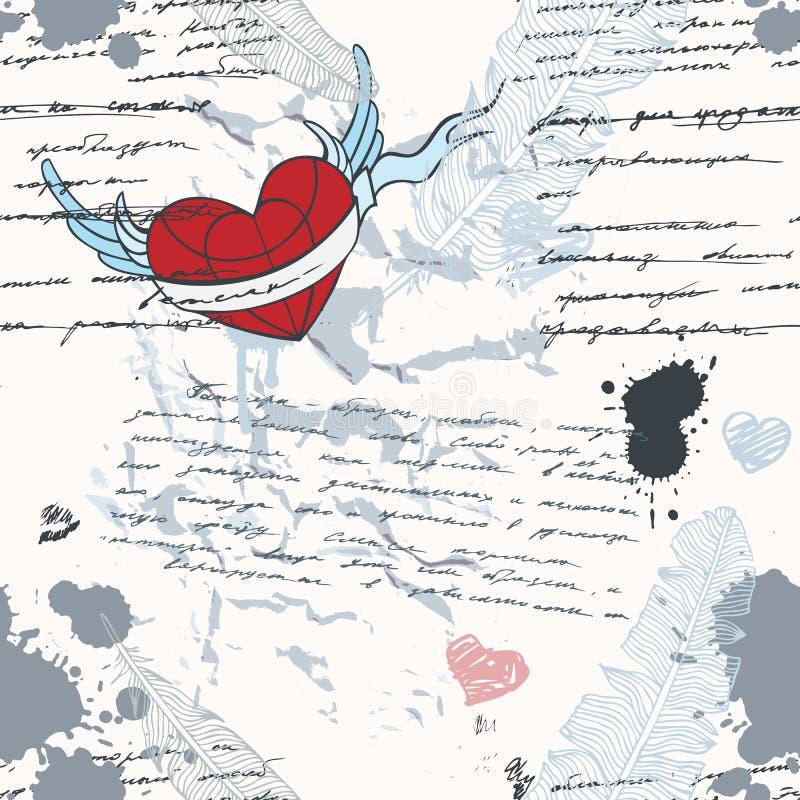 Escritura. Fondo inconsútil. libre illustration