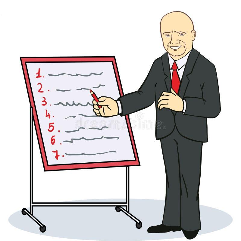 Escritura Madura Del Hombre De Negocios En Un Planificador De La ...