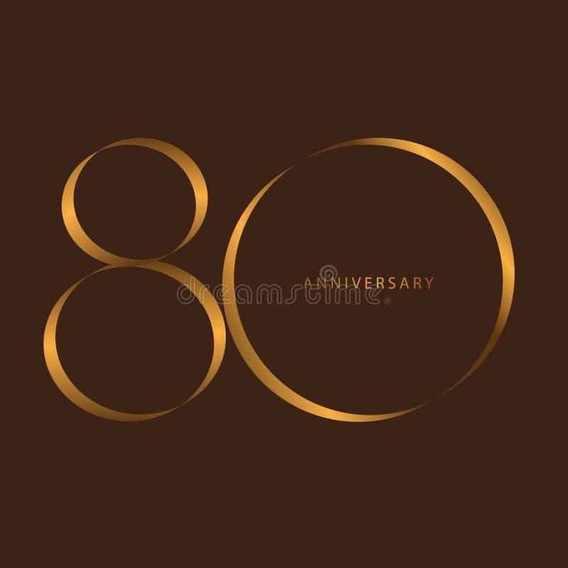 Escritura que celebra, aniversario del 80.o aniversario del año del número libre illustration