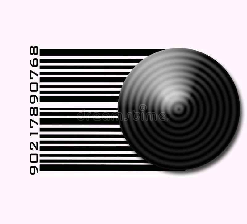 Escrituras de la etiqueta de código de barras ilustración del vector