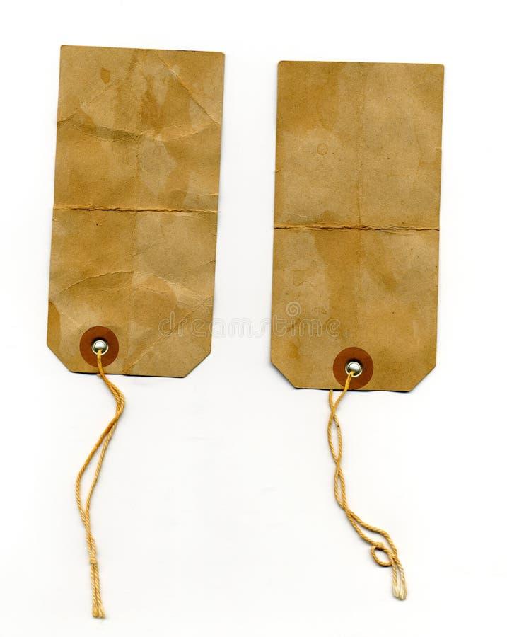Escrituras de la etiqueta de direccionamiento desaliñadas foto de archivo libre de regalías
