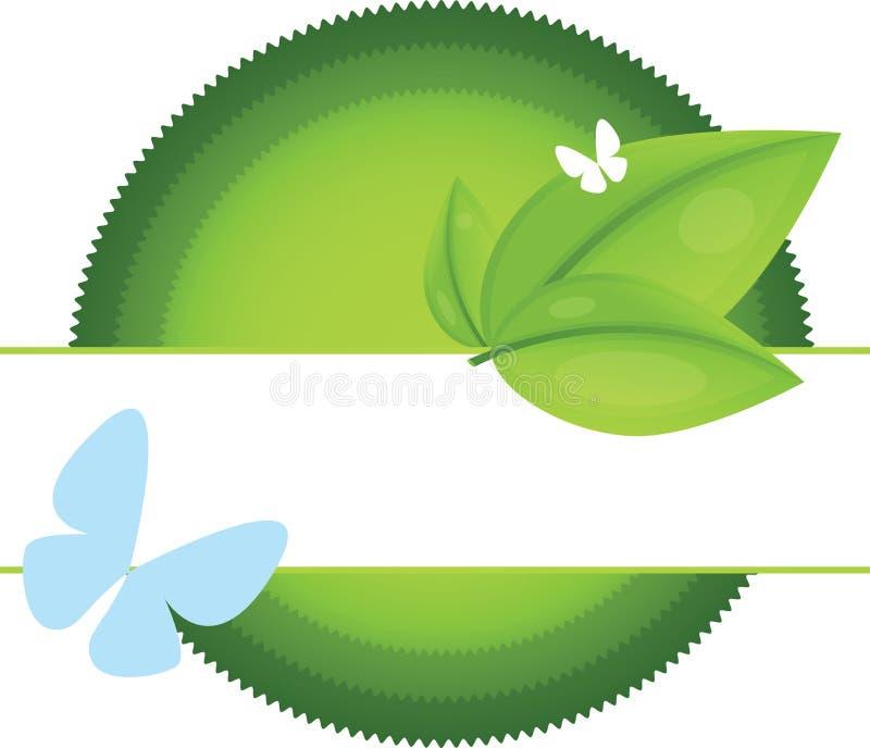 Escrituras de la etiqueta de Eco stock de ilustración