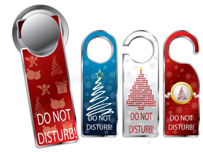 Escrituras de la etiqueta de la aislamiento del diseño de la Navidad libre illustration