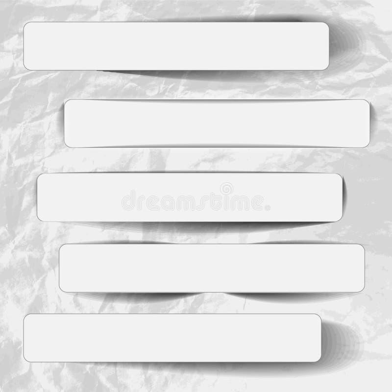 Escrituras de la etiqueta de la bandera ilustración del vector