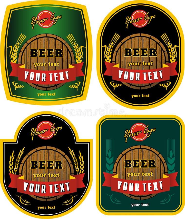 Escrituras de la etiqueta de la cerveza stock de ilustración
