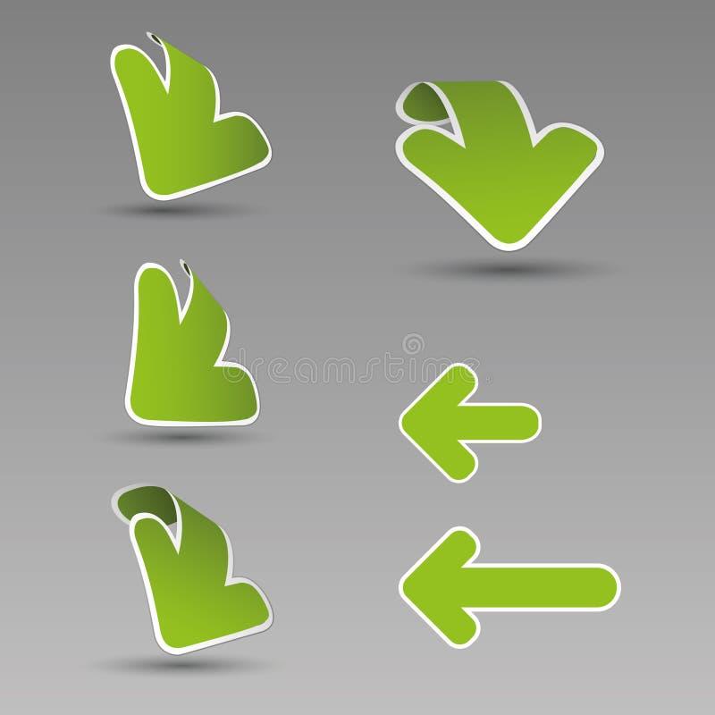 escrituras de la etiqueta de la flecha 3D stock de ilustración