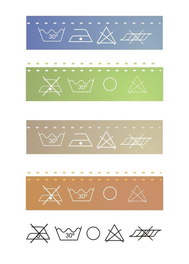 Escrituras de la etiqueta de la ropa en colores libre illustration