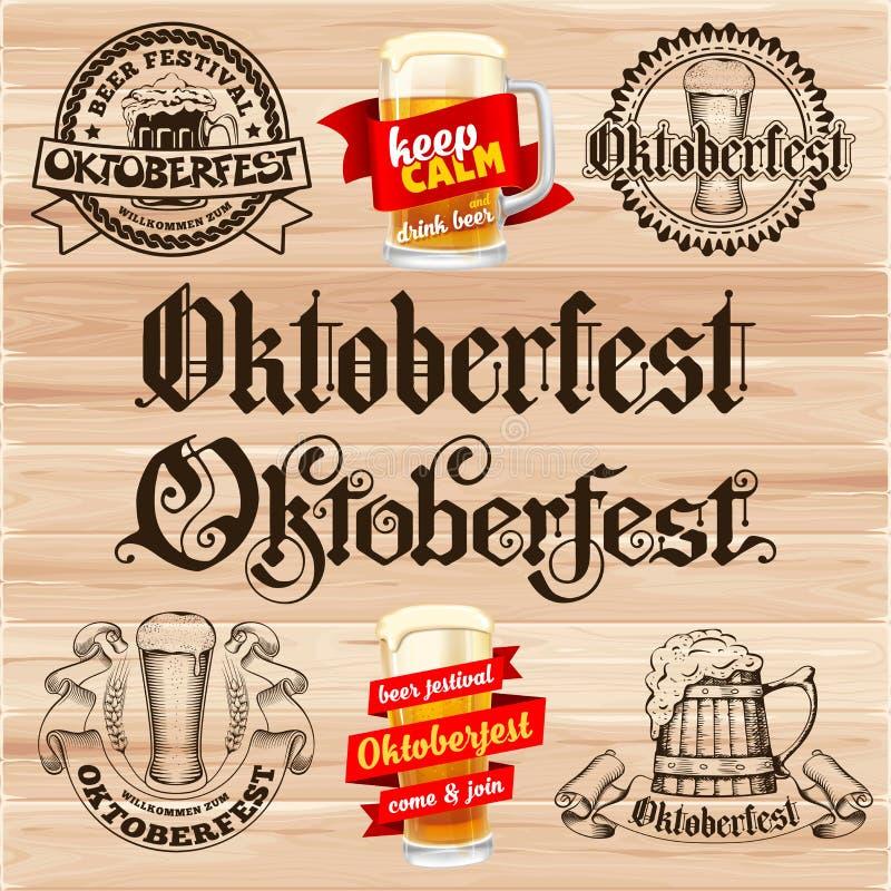 Escrituras de la etiqueta de Oktoberfest libre illustration