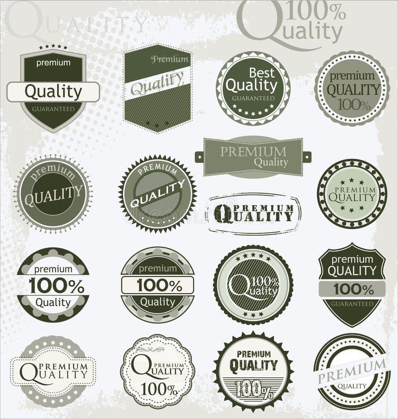 Escrituras de la etiqueta superiores de la calidad ilustración del vector