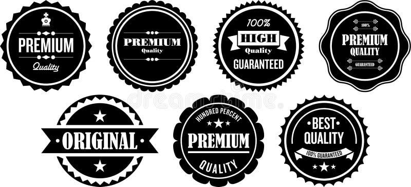 Escrituras de la etiqueta superiores de la calidad stock de ilustración