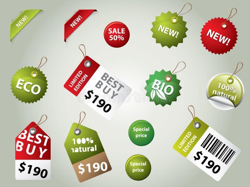 Escrituras de la etiqueta y divisas de la venta